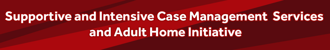 Supportive and Intensive Case Management Services; Adult Home Initiative